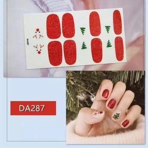 Holiday Reindeer nail wraps